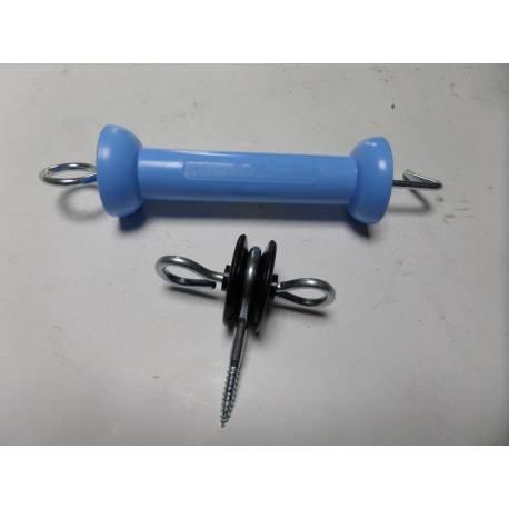 Sistem de poarta simpla pentru gardul electric de pasune